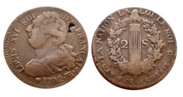 2 Sols LOUIS XVI 1792 BB (Strasbourg) A VOIR!!! - 987-1789 Monnaies Royales
