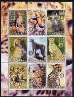 ERITREA   381 MINT NEVER HINGED MINI SHEET OF WILDLIFE & ANIMALS ;BIG CATS - Fantasy Labels