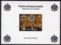 Sào Tomé & Principe Francomaçonaria MOZART MASSONERIA FREEMASONRY LODGE MASONIC  Franc-maçonnerie MNH Mint ** - Franc-Maçonnerie
