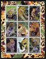 ERITREA   382 MINT NEVER HINGED MINI SHEET OF WILDLIFE & ANIMALS ;BIG CATS - Fantasy Labels