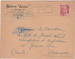 """Enveloppe Commerciale 1948 / J. JACOB / Maison """"Léonce"""" / 13 Cours De L' Yser / 33 Bordeaux - Maps"""