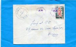 """Marcophilie-Algérie- -lettre """"école Diderot"""">Françe-cad Hexagonal Perlé Diderot -1963 - Algeria (1962-...)"""