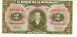 Colombia P.390 2 Pesos 1955 A-unc - Colombia