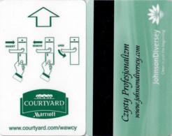 Hotel Key Card, Roomkey, Zimmerkarte, Clef De Hotel - Courtyard Marriott  Czysty Profesjonalizm-2324 - Cartas De Hotels