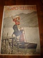 édit. Origine 1895 Rare Plaque Publicitaire Du FIGARO ILLUSTRÉ 52cm X 32cm :Litho: Au Lac Du Bourget, Signé G. Bourgain - Targhe Di Cartone