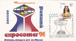 9na EXPO COMERCIAL INTERNACIONAL EXPOCOMER-SPECIAL COVER PANAMA 1991-BLEUP - Panama
