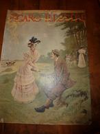édit. Origine 1895 Rare Plaque Publicitaire Du FIGARO ILLUSTRÉ 52cm X 32cm :Litho: La Chasse, Signé Maxime Faivre - Targhe Di Cartone