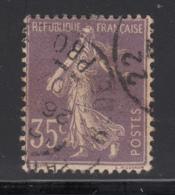 France 1926 Used Scott #175 35c Sower, No Ground Under Feet - 1906-38 Semeuse Camée
