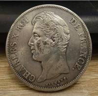 5 Francs - Argent - Charles X - 1828 W - SUP ! - France