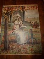 édit. Origine 1894 Rare Plaque Publicitaire Du FIGARO ILLUSTRÉ 52cm X 32cm :Litho: Jeune Femme élégante, Signé A.Moreau - Targhe Di Cartone
