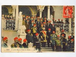 Carte Postale : TUNISIE : S. A. Le Bey Au Palais Du Bardo, Timbre En 1914 - Tunisie