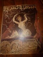 édit. Origine 1894 Rare Plaque Publicitaire Du FIGARO ILLUSTRÉ 52cm X 32cm :Litho: Jeune Femme Au Balcon ,signé ?? - Targhe Di Cartone
