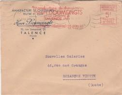 Enveloppe Commerciale 1946 / Henri DOUMEINGTS / Manufacture Chaussures Feutre / Flamme EMA / 33 Talence - Maps