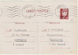 Enveloppe Commerciale 1943 / P. BOULAND / Entier Pétain 1F20 / 93 Montreuil / Commande Plaques à Souder - Maps