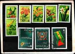 73363)-LOTTO FRANCOBOLLI  DI S. TOMè E PRINCE.-USATI -60 ANN RIVOLUZIONE D'OTTOBRE - Sao Tomé E Principe
