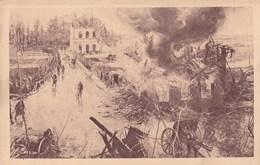 Nieuport -Incendie Du Cabaret Lobbestal-Les Derniers Obus Du 26 Octobre 1914 -Bruxelles-Panorama De La Bataille De L'Yse - Nieuwpoort