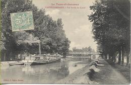 CASTELSARRASIN  L Es Bords Du CANAL (rare Péniche à Vapeur) - Castelsarrasin