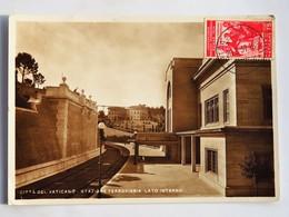 Carte Postale : CITTA DEL VATICANO : Stazione De Ferroviaria Lato Interno, Timbre 1937 - Vatican