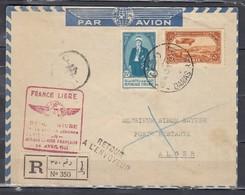 Aangetekende Brief Van Gamas Naar Alger Retour A L'Envoyeur France Libre - Syrie