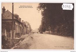 6761 D27B AK PC CPA 27 BEUZEVILLE ROUTE DE PONT L EVEQUE NC TTB - Francia