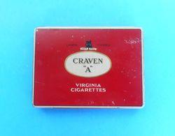 """CRAVEN """" A """" Virginia Cigarettes ... Vintage Tin Box * Zigaretten Sigarette Cigarrillos Cigarros - Contenitori Di Tabacco (vuoti)"""
