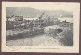 Le Teil Les Toueurs Au Quai D'embarquement  Bateau Amphidrome * ARDECHE 07400  * Carte Envoyée En Franchise Militaire - Le Teil