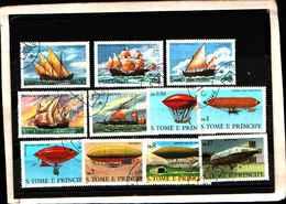 73365)-LOTTO FRANCOBOLLI  DI S. TOMè E PRINCE.-USATI - - Sao Tomé E Principe