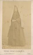Rare CDV - Bernadette Soubirous Par Le Photographe Billard-Perrin à Pau (recto/verso) - Old (before 1900)
