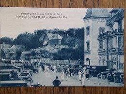 76 - POURVILLE Sur MER - Place Du Grand Hôtel à L'heure Du Thé. (Belle Animation - Tacots) - France