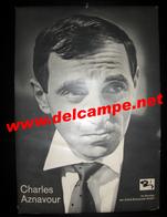 Allemagne AFFICHE CARTON PUBLICITAIRE PLV Charles Aznavour BARCLAY - Posters