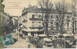 CASTRES Rue HENRI IV Et Coin De La Place NATIONALE (marché, Animation...) - Castres