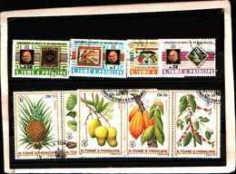 73367)-LOTTO FRANCOBOLLI  DI S. TOMè E PRINCE.-USATI - - Sao Tomé E Principe