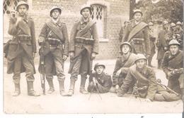 CARTE-PHOTO BELGIQUE Armée Belge Les Mitraillleuses - Matériel