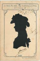 N°11222 - Carte Fantaisie - Silhouette - Femme - Willy Piesker - Mannheim 1907 - Silhouette - Scissor-type