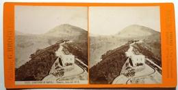 VESUVIO , LAVA DEL 1872 - CONTORNI DI NAPOLI - Stereoscopio
