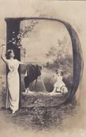 CPA Fantasy, Fille Avec D, Girl With Letter D (pk50564) - Vrouwen
