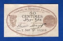 Alger  50  Cents  13/1/1915 - Algérie