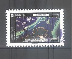 France Autoadhésif Oblitéré N°1581 (La Terre Vue De La Station Spatiale Internationale Par Thomas Pesquet) (cachet Rond) - France