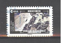 France Autoadhésif Oblitéré N°1578 (La Terre Vue De La Station Spatiale Internationale Par Thomas Pesquet) (cachet Rond) - France