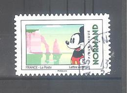 France Autoadhésif Oblitéré N°1588 (Mickey Et La France : Normand) (cachet Rond) - France