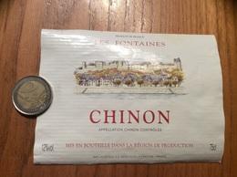 Etiquette De Vin «CHINON - LES FONTAINES - LACHETEAU - DOUÉ-LA-FONTAINE (49)» - Rouges