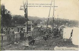 Plage De L'ISLE -ADAM-PARMAIN  Réunion Nautique Du 29 Juin 1913 Le Camping La Soupe - L'Isle Adam