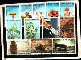 73372)-LOTTO FRANCOBOLLI  DI S. TOMè E PRINCE.-USATI - - Sao Tomé E Principe