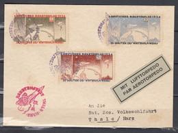 Deutscher Raketenflug 1934 Mit Lufttorpedo Naar Thale Harz - Poste Aérienne