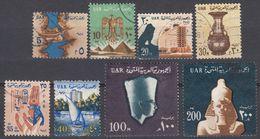 EGITTO - 1964 - Lotto Di 9 Valori Usati: Yvert 582, 583, 585, 586, 587, 588, 589, 590 E 591. - Egitto