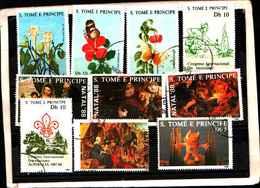 73373)-LOTTO FRANCOBOLLI  DI S. TOMè E PRINCE.-USATI - - Sao Tomé E Principe