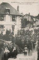 BOISSET (CANTAL) VUE DE L'INAUGURATION DU MONUMENT AUX MORTS DE LA GRANDE GUERRE - Autres Communes