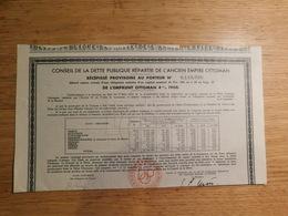 Conseil De La Dette Publique Répartie De L'ancien Empire Ottoman, Obligation De 500 Francs   (Box1) - Shareholdings