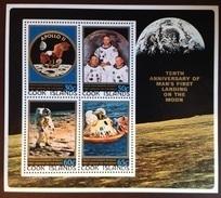 Cook Islands 1979 Moon Landing Minisheet MNH - Cook Islands