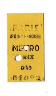 TICKET DE TRANSPORT . PARIS - POINTE NOIRE - Réf. N°19648 - - Titres De Transport